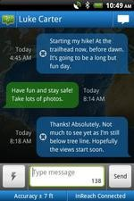 EarthMate Android Two Way Messaging